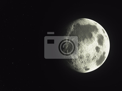 une ombre à côté de vide astéroïde