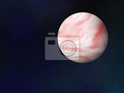une planète. milieux cosmos ciel