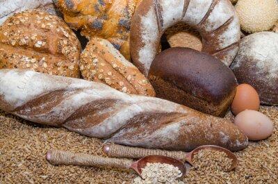 Image Une variété de produits de boulangerie