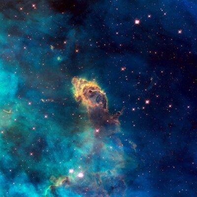 Image Univers rempli de jet stellaire, étoiles, nébuleuse et galaxie.