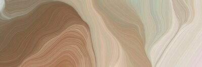 Image unobtrusive header with elegant curvy swirl waves background design with rosy brown, light gray and pastel brown color
