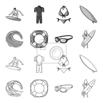 ef08189588d57f Image Vague imminente, bouée de sauvetage, lunettes de protection, surf des  filles.