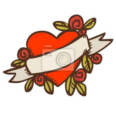 Valentines, jour, salutation, carte, coeur