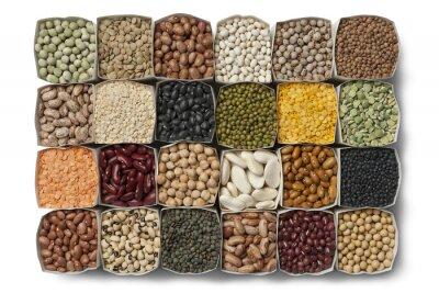 Image Variété de haricots secs et les lentilles