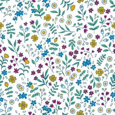 Image Vecteur, coloré, floral, seamless, modèle