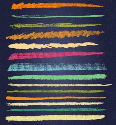 Image Vecteur, craie, lignes, ou, brosses