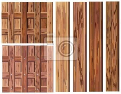 Vecteur d'éléments en bois