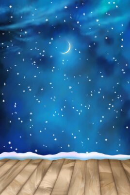 Image Vecteur d'hiver de nuit Clouds background