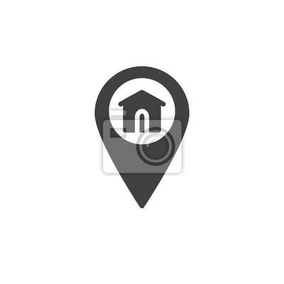 Icone Localisation vecteur dicône de localisation à domicile icône, rempli de signe