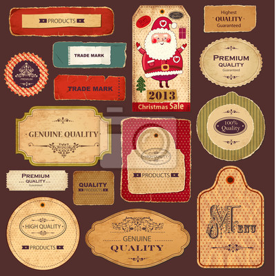 Vecteur de collecte: vintage labels et rétro