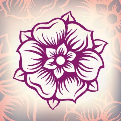 Image vecteur de fleur de cru baroque de gravure