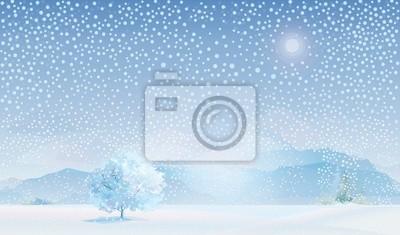 Vecteur de paysage d'hiver.
