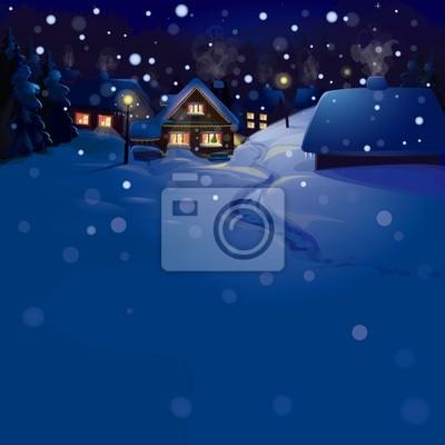 Vecteur de paysage d'hiver. Joyeux Noël!