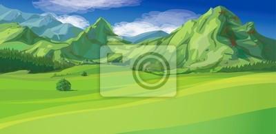 Vecteur de paysage de montagne