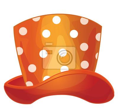 Vecteur drôle de chapeau, adapté aux proportions de la tête humaine.