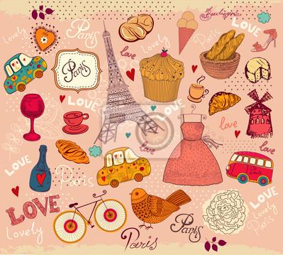 Vecteur ensemble de symboles de Paris