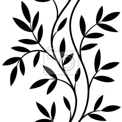 Image Vecteur Illustration Seamless Modèle Décoratif Noir Blanc
