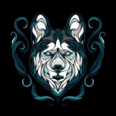 Image Vecteur, image, chien, sibérien, husky