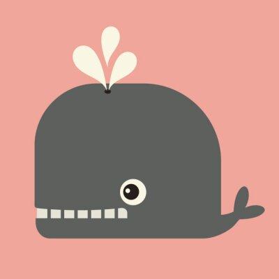 Image vecteur mignon baleine
