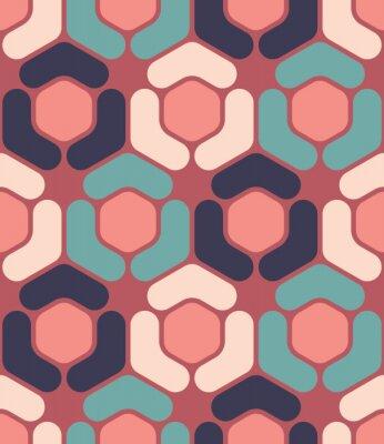Image Vecteur moderne, seamless, coloré, géométrie, hexagone, modèle, couleur, résumé, géométrique, fond, oreiller, multicolore,