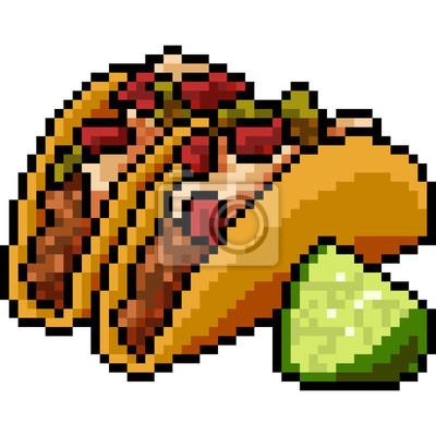Image Vecteur Pixel Art Alimentaire Taco
