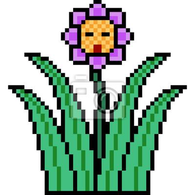 Image Vecteur Pixel Art Fleur