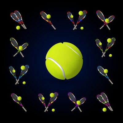 Image Vecteur, tennis, symboles, conception, éléments, tennis, balles