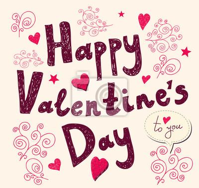 Vecteur Valentine carte de voeux