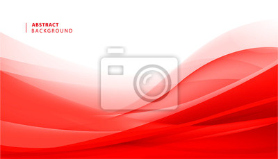 Image Vector abstract red wavy background. Curve flow motion
