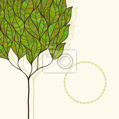 Vector background with abstract leaves