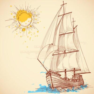 Image Vector bateau à voile