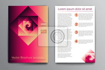 Vector Brochure Design Template Peintures Murales Tableaux