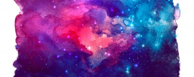 Image Vector cosmic illustration. Beautiful colorful space background. Watercolor Cosmos