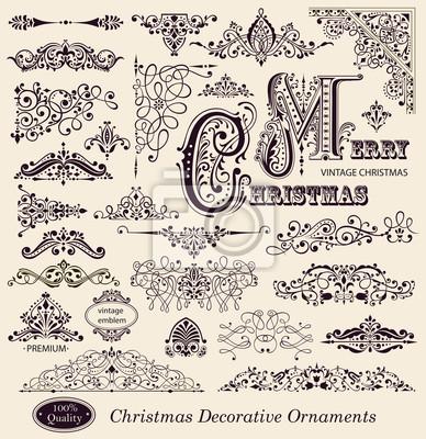 Vector ensemble de décorations de Noël et des éléments de conception