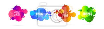 Image vector illustration. modern organic liquid. graphic frame design for text.