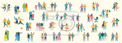Image Vector illustration of different family people wi