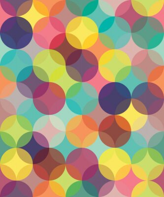 Image Vector modern seamless colorful geometry pattern circles overlapping  , color abstract geometric background,wallpaper print,  retro texture, hipster fashion design,