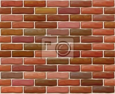 Vector seamless mur de briques en briques rouges.