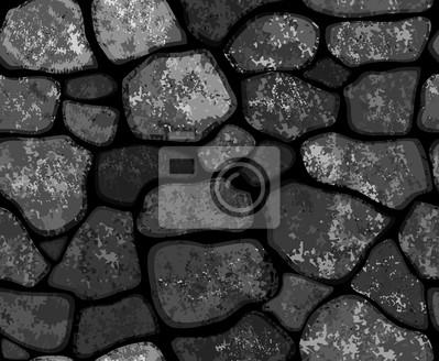 Vector seamless texture de Stonewall en couleur noire.
