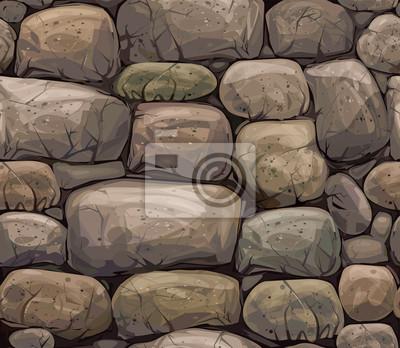 Vector seamless texture des pierres dans des couleurs brunes.