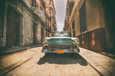 Image Vendue, voiture, garé, Havane, rue