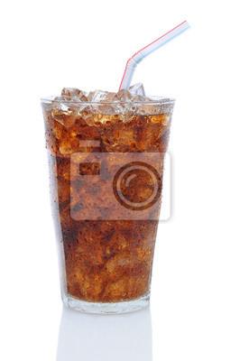 Verre de Cola avec Paille pour boire