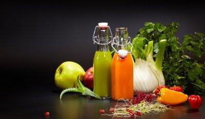 Image Verre, frais, organique, légume, fruit, jus, isolé