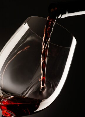 Image Verre, rouges, vin, sombre, fond