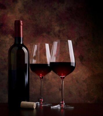 Image verres de vin sur la table