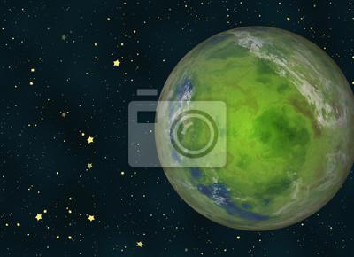 Vert, La terre, planète, cosmos, étoiles, Arrière-plans