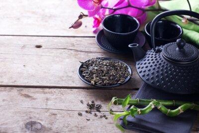 Image Vert, thé, bol, traditionnel, Asiatique, thé ...
