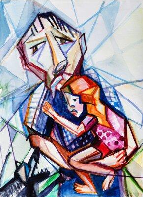 Image Vieil homme et fille