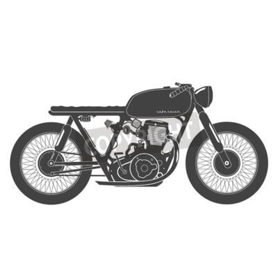 Image Vieille moto ancienne. Café thème du coureur.