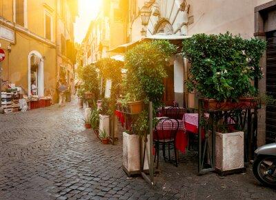 Image Vieille rue de Trastevere à Rome, Italie